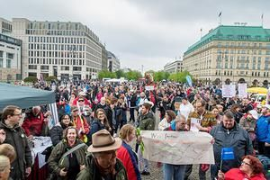 Protestaktion auf dem Pariser Platz in Berlin am 5.5.2019