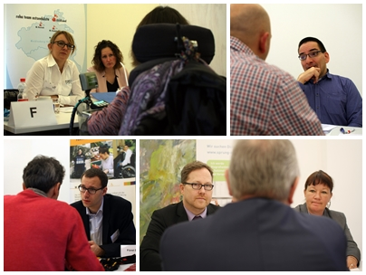 Fotocollage vom Job-Speed-Dating