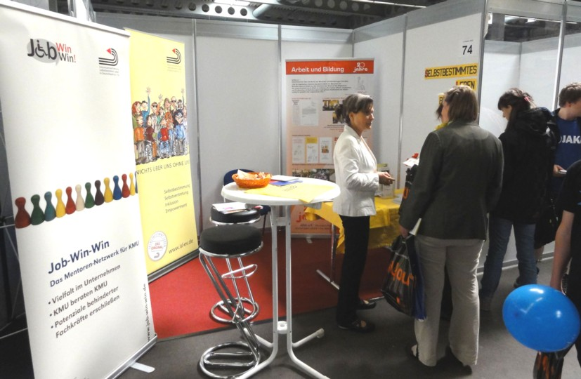 Messestand in Erfurt
